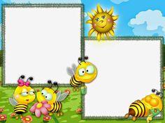 Maestra de Primaria: Marcos infantiles para fotos y marcos o bordes escolares Book Wallpaper, Kids Wallpaper, Cute Clipart, Frame Clipart, Diy Paper, Paper Crafts, Kindergarten Interior, Boarders And Frames, Paper Fish