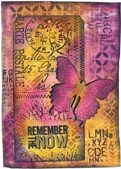 Mixed media art journal with Distress Inks and Sizzix dies from Tim Holtz (Marjie Kemper)