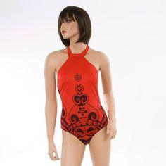 JOLIDON Damen Badeanzug rot Bekleidung Damen