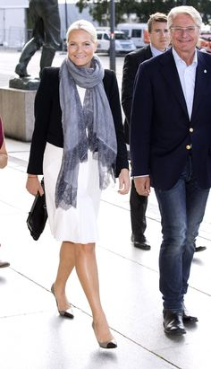 Crown Princess Mette-Marit arriving at the exhibition Kaleidoskop in Oslo.