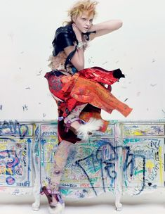 """My Space""   Model: Sasha Pivovarova, Photographer: Craig McDean, Interview Magazine, February 2010"