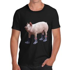 1f84c8850 T Shirt Printing Company Pig In Boots Cotton Men'S Casual Short O-Neck Tee  Shirts