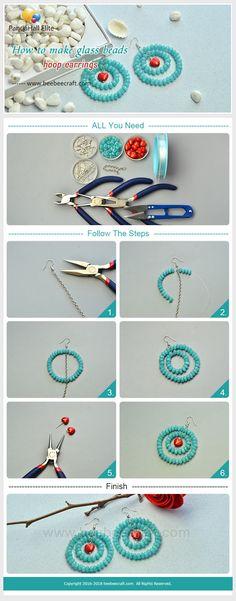 #Beebeecraft tutorials on how to make #glassbeads #hoopearrings