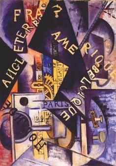 1915 METRONOME, Olga Rózanova (1816~1918), a Russian avant-garde artist in the styles of Suprematist, Neo-Primitivist, and Cubo-Futurist.