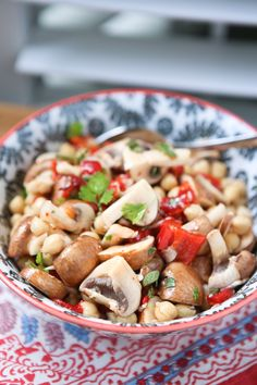 Bring this savory Marinated Mushroom and Chickpea Salad to your next picnic or barbecue! Enjoy on it's own as a vegetarian option, or as a side dish. from @aggieskitchen