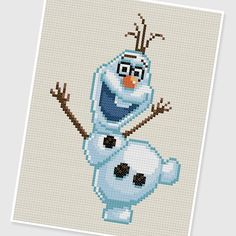 PDF Cross Stitch pattern  0207.Olaf Frozen  by PDFcrossstitch, $3.75