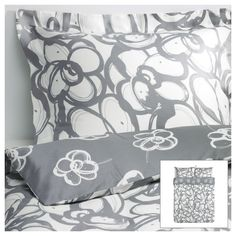 This is going to be my new Duvet cover. Now I need a new duvet. KLÄNGLILJA Duvet cover and pillowcase(s) - Full/Queen - IKEA