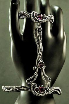 Nicole Hanna Jewelry | Amethyst Crystal Slave Bracelet | Online Store Powered by Storenvy