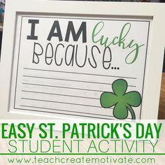FREE St. Patrick's Day student activity!