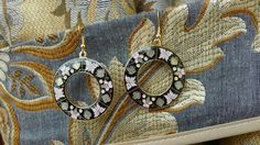 Black Circle Dangle Earring by YYworkshop on Etsy, $18.00