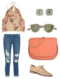 """""""Spring Bling"""" by pjcamg ❤ liked on Polyvore featuring Frame Denim, Exclusive for Intermix, Matt Bernson and Michael Kors"""