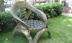 Recycled Tire Chair -  ASMARE in Brazil is doing some great stuff!