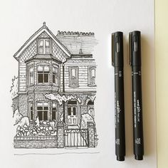 https://flic.kr/p/F6VLV5 | Another quick sketch. #art #drawing #pen #sketch #illustration #linedrawing #architecture #house #westdesignproducts | via Instagram ift.tt/1V6GhMc