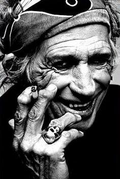 Keith Richards portrait by Annie Leibovitz