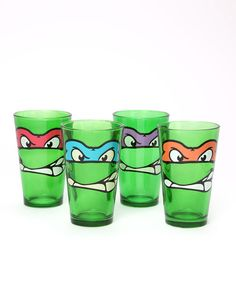 Teenage mutant ninja turtles glass set