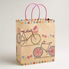 One of my favorite discoveries at WorldMarket.com: Large Double Bicycles Kraft Gift Bag