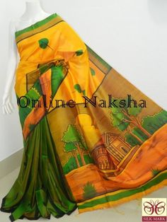 Handpainted pure Silk Online To order Whatsapp +91-7551004229 or visit onlinenaksha.com saree #ghichasaree #tussarghichasaree #puresilksaree #softsilk #weddingsaree ##tussar sareecollection #sareeshopping #onlinesareeshopping #handpaintedsaree #batiksaree #handloomsaree #handwovensaree #kanthastitchsaree #nakshikanthasaree #handloompuresilksaree #pattachitrasaree #handpaintedpattachitrasaree