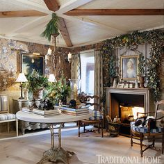 Charles Faudree's country cabin wasn't born with charm; he just made it seem that way</p>