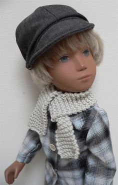 Farmer boy outfit with check shirt and denim cap for Sasha doll by chirnside on eBay