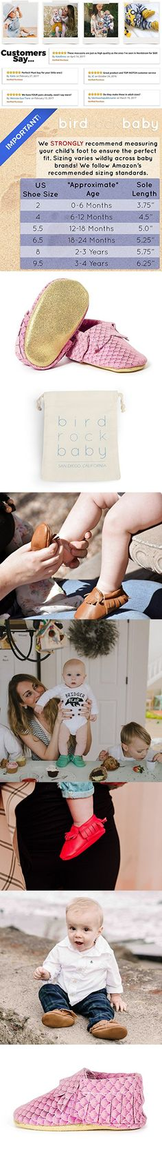 BirdRock Baby Moccasins - Soft Sole Leather Boys and Girls Shoes for Infants, Babies, and Toddlers (Preschooler | 3-4 Years | US 9.5, Pink Mermaid)