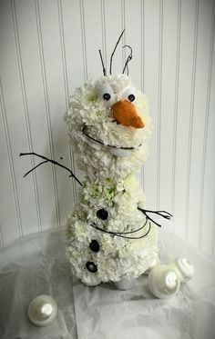 Olaf the Flower Man from Disney's Frozen by Afton's Floral