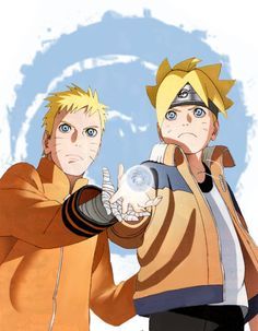 Naruto and Boruto. How me and my Dad are.