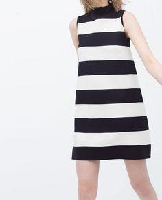 Image 3 of STRIPED TURTLENECK DRESS from Zara
