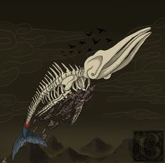 Bakekujira A ghost whale or whale skeleton that haunts Japanese waters.