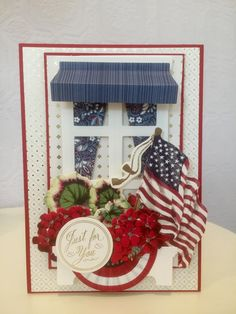 Anna Griffin Inc, Anna Griffin Cards, Window Cards, Vintage Holiday, Shadow Box, St Patrick, Ladder Decor, Holiday Cards, 4th Of July