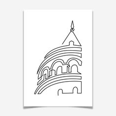 Tek Çizgide Galata Kulesi Reyhan Karacadağ