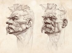 ArtStation - Some portraits hatching training , Tima Akai Drawing Sketches, Drawings, Gallery, Artwork, Portraits, Training, Coaching, Work Of Art, Roof Rack