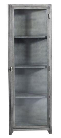 Muubs Iron Glasskab - Sort - Skab fra Muubs i industrielt design med 4 hylder til opbevaring. Med dette skab får du både et cool look, og din helt personlige stil i din stue.