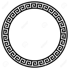 Round Frame With A Meander. Royalty Free Cliparts Vectors And Stock Illustration. Maori Tattoo Frau, Maori Tattoos, Inca Tattoo, Bild Tattoos, Tatoos, Small Tattoos With Meaning, Cute Small Tattoos, Stencils, Circle Borders