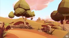 Low Poly Series: Landscape - Stoolfeather Games