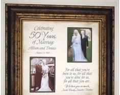 Anniversary Gift for Parents Golden Anniversary, Handmade Anniversary Gifts from PhotoFrameOriginals Custom Photo Mats - Anniversary Gift 50 Anniversary Gifts Parents Anniversary Handmade Anniversary Gifts, Golden Anniversary Gifts, Anniversary Gifts For Parents, 50th Wedding Anniversary, Anniversary Ideas, Marriage Anniversary, Thank You Gift For Parents, Wedding Gifts For Parents, Wedding Thank You Gifts