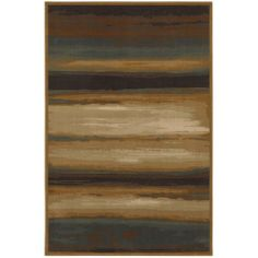 """Versailles Skyways Blue 63""""x94"""" Rug by MOHAWK. $292.50. Contemporary. Versailles. Brown. 63""""x94"""". Skyways Blue. Inspired by the radiant imagery of a setting sun, this abstracted design lends modern charm to your decor. This stunning rug explores color in an artistic fashion that suits virtually any decor. From a rich brown and dusty blue to creamy beige with accents of gold, the color variations evoke a sense of calm. Unsurpassed in quality and style without sacr..."""