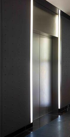 blackened steel elevator vestibule - Google Search