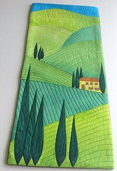 Patchwork Quilting, Applique Quilts, Mini Quilts, Baby Quilts, Quilting Projects, Quilting Designs, Quilting Ideas, Landscape Art Quilts, Landscapes