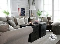 Living in New England style Living Room Cushions, Interior Styling, Interior Design, New England Style, Dream Decor, Apartment Interior, Living Area, Living Rooms, Living Room Designs