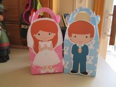 My First Communion Red Hair Favor Boxes Set of 12 by zbrown5, $14.40