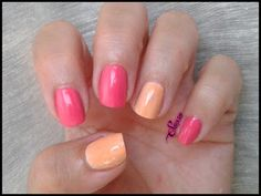 Elegant nails are designed by Sonsoles. With the water decals. You can enjoy them here>>http://www.elmaletindesonso.com.es/2015/07/manicura-fucsia-y-naranja-water-decals.html