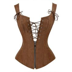 Cheap corset leather jacket, Buy Quality leather jacket for sale directly from China leather and canvas bag Suppliers: Charmian Faux Leather Corset Sexy Brown Zipper Steampunk Corset Overbust Lace Up Back Vest Corset Corselet Espartilhos for Women Corset Overbust, Corset Sexy, Lace Corset, Lace Vest, Leather And Lace, Leather Corset, Brown Leather, Corset En Cuir, Leather Jackets For Sale