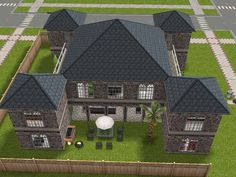 castle style house with stilts and adjacent towers #sims #freeplay