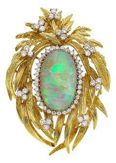 Rosamaria G Frangini | High Antique Jewellery | Vintage Jewellery | Estate Jewelry: Brooches - Pins, Opal, Diamond, Gold Brooch. Australia opals.