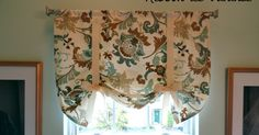I'm finally sharing this really easy valance with you! I made this a couple of months ago for the window in our master bathroom. To be perfe...