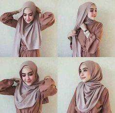 Tutorial Video for Widyastuti Hijaber Smile - Fairy Hijaber Modern Hijab Fashion, Street Hijab Fashion, Hijab Fashion Inspiration, Stylish Hijab, Casual Hijab Outfit, Hijab Chic, Simple Hijab Tutorial, Hijab Style Tutorial, Tutorial Hijab Pashmina