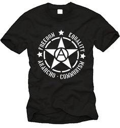 """Freedom / Equality / Anarcho-Communism""  Star T-Shirt ( #Anarchism #Revolution )"