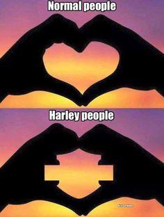 Haha - We are Harley people!