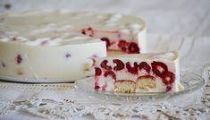 Egyszerű málnás joghurttorta sütés nélkül Cake Cookies, Fondant, Panna Cotta, Cheesecake, Cakes, Ethnic Recipes, Desserts, Food, Tailgate Desserts