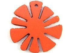Salmon Pink Flower Metal Pendant 21mm (RM46)